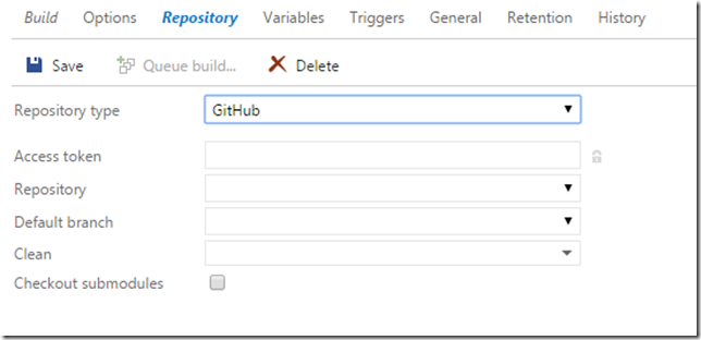 Building GitHub repositories in TFS Build vNext - blog ehn nu
