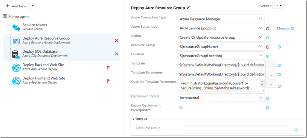 Deploying ARM Templates using Visual Studio Team Services - blog ehn nu
